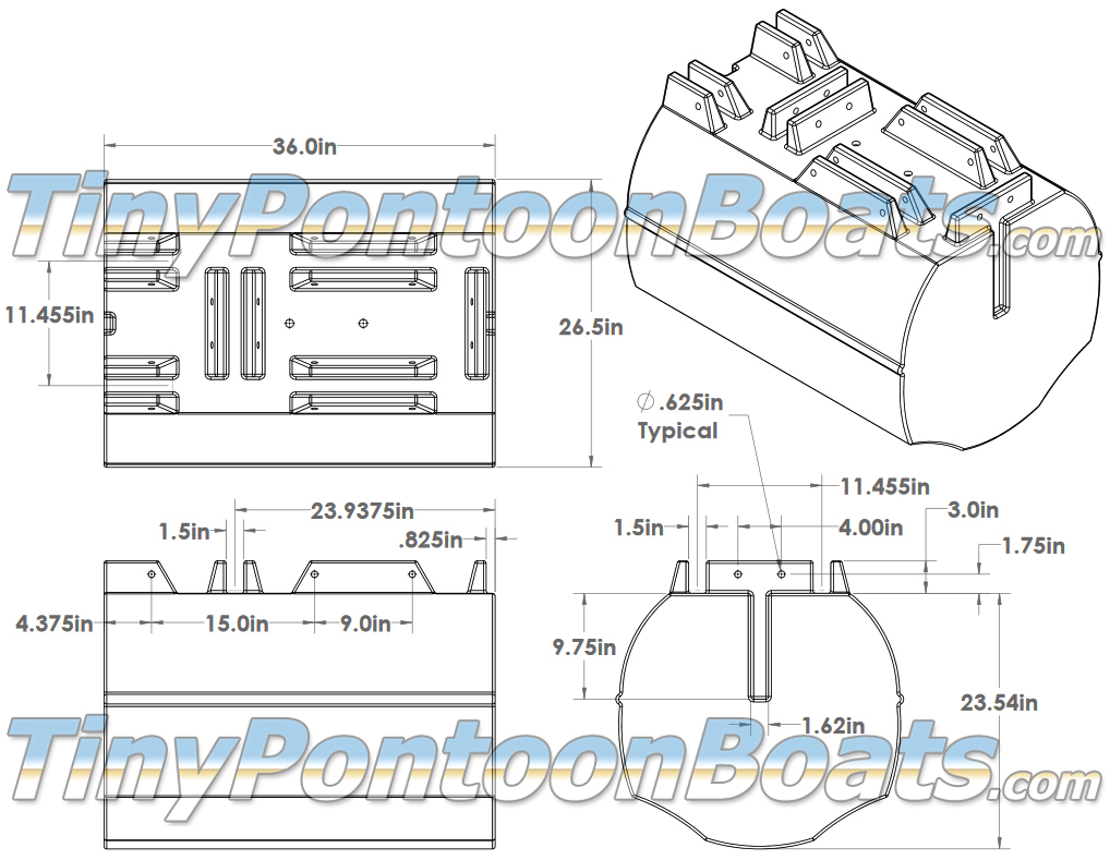 above we have dimensioned diagrams showing the 26
